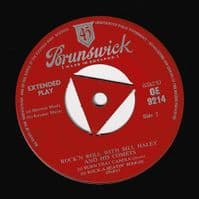 BILL HALEY AND HIS COMETS Rock 'N Roll EP Vinyl Record 7 Inch Brunswick 1956